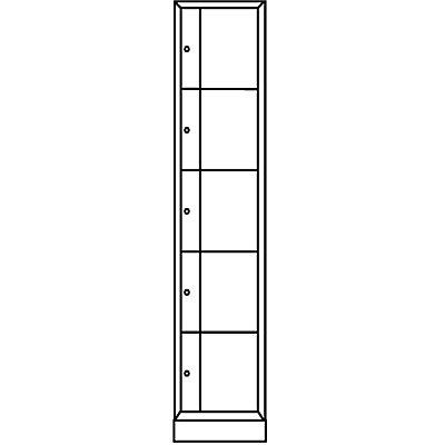 CP Schließfachschrank - HxBxT 1950 x 396 x 540, 5 Fächer