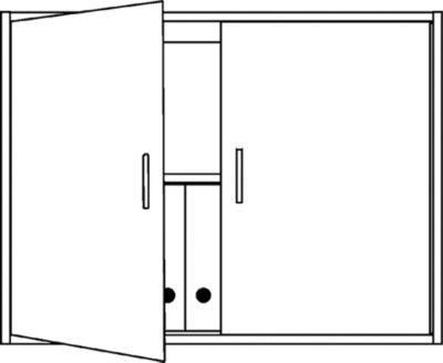 office akktiv STATUS Aufsatzschrank - 1 Fachboden, stapelbar
