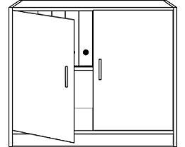 office akktiv STATUS Armoire de bureau - à portes battantes, 1 tablette