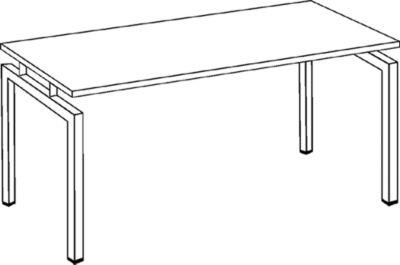 office akktiv STATUS Schreibtisch - Vierkantrohr-Gestell, Breite 1200 mm