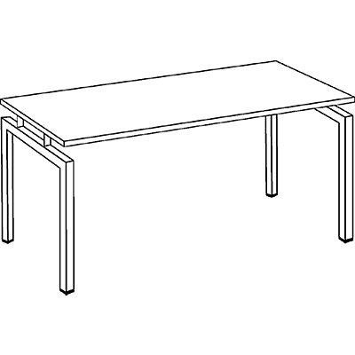 office akktiv STATUS Schreibtisch - Vierkantrohr-Gestell, Breite 1600 mm
