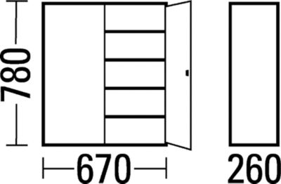 EUROKRAFT Materialschrank aus Stahlblech - Höhe 780 mm, mit Lagerkästen