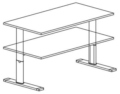 UPLINER Stehschreibtisch, elektrisch höhenverstellbar - 725 – 1185 mm, BxT 1200 x 800 mm