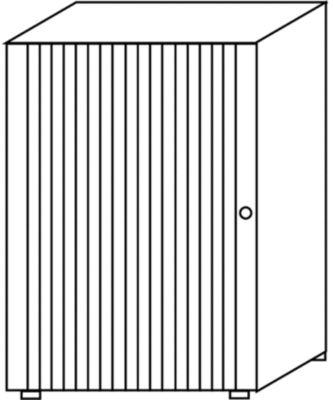 VERA Rollladenschrank, stapelbar - 2 Fachböden, Höhe 1090 mm
