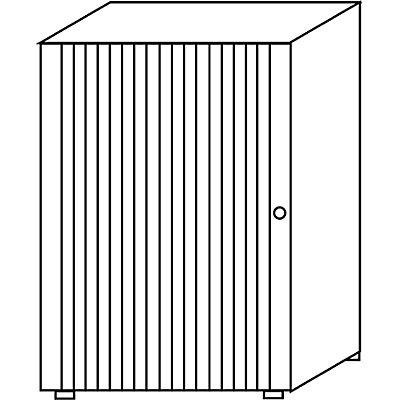Wellemöbel VERA Rollladenschrank, stapelbar - 2 Fachböden, Höhe 1090 mm