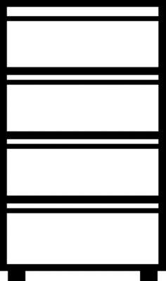 Mauser Hängeregistraturschrank, Griffleisten - 4 Schübe, Sanfteinzug, 2-bahnig