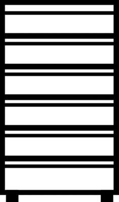 Mauser Karteischrank, Griffleisten - 6 Schübe, Sanfteinzug, 3-bahnig