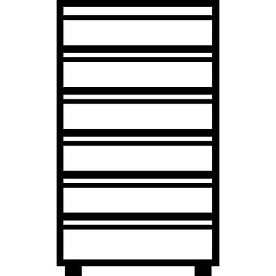 Mauser Karteischrank, Griffleisten - 6 Schübe, 3-bahnig