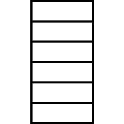Mauser Karteischrank, Griffleisten - 6 Schübe, Sanfteinzug, 2-bahnig