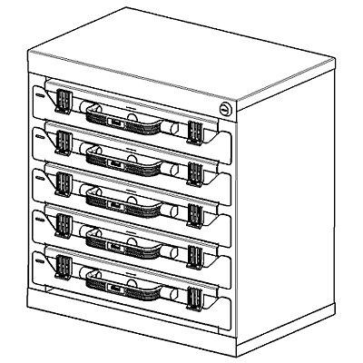 EUROKRAFT Turm für Sortimentskoffer - aus Stahlblech