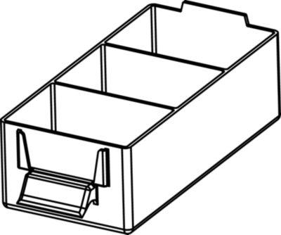 Schubladenmagazin, Schubladen glasklar - HxBxT 507 x 271 x 173 mm, Gehäuse-Traglast 40 kg