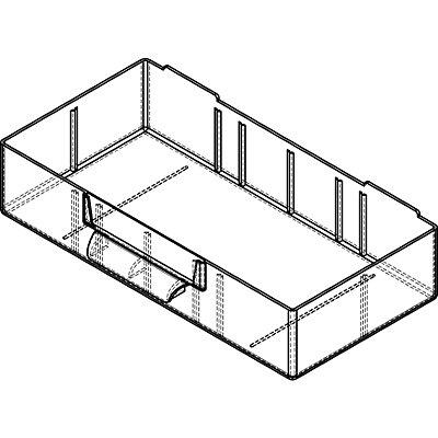 Bloc-tiroir à tiroirs translucides - h x l x p 551 x 306 x 155 mm, charge max. bloc 60 kg, 8 tiroirs