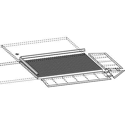 BAUER Auffahrrampe für niedrige Stahl-Flachwanne - Tiefe 500 mm, Radlast 500 kg