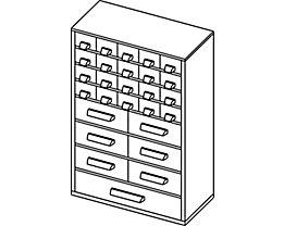Bloc-tiroirs - h x l 460 x 306 mm, 27 tiroirs