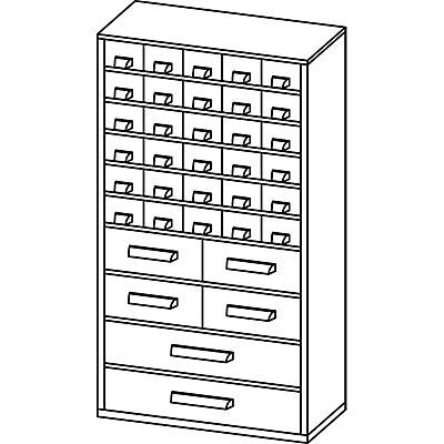 Schubladenmagazin - HxB 551 x 306 mm, 36 Schubladen