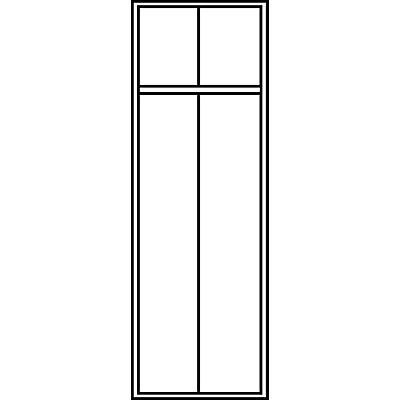 CP Garderobenschrank mit Kunststoff-Füßen - Abteilbreite 300 mm, HxBxT 1850 x 600 x 500 mm - lichtgrau