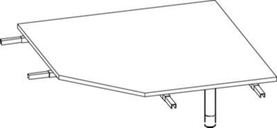 THEA Verkettungsplatte - 90° mit Stützfuß