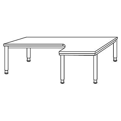 VIOLA Freiformtisch - HxBxT 760 x 2000 x 1200 mm