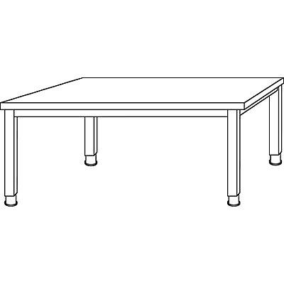 office akktiv RENATUS Schreibtisch - 4-Fuß-Gestell, Breite 1600 mm