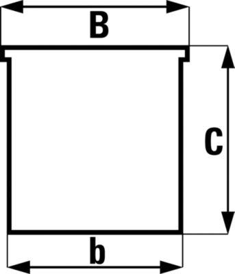 Sichtlagerkasten aus Polypropylen - LxBxH 100 x 109 x 53 mm