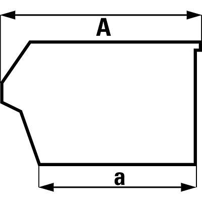 Bac à bec en polypropylène - L x l x h 250 x 344 x 129 mm