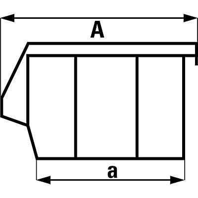 Sichtlagerkasten, selbsttragend - LxBxH 341 x 210 x 167 mm