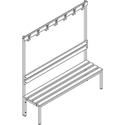 Garderobenbank - einseitig, mit Lehne, HxT 1700 x 430 mm