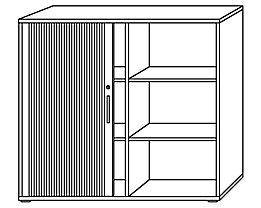 office akktiv RENATUS Armoire à rideaux - hauteur 1100 mm, 2 tablettes de chaque côté