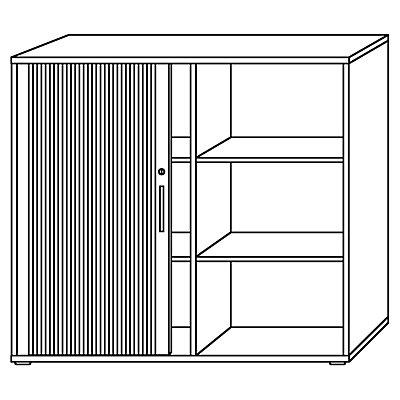 office akktiv RENATUS Rollladenschrank - Höhe 1100 mm, je 2 Fachböden