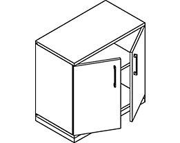 THEA Armoire à portes battantes - 1 tablette, 2 hauteurs de classeurs