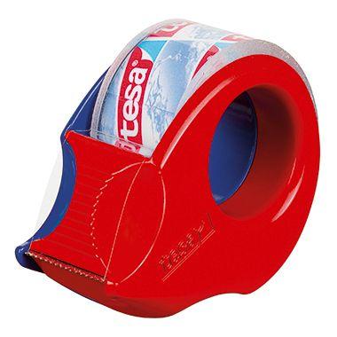 tesa Handabroller Mini 57858-00000 19mmx10m rot/blau