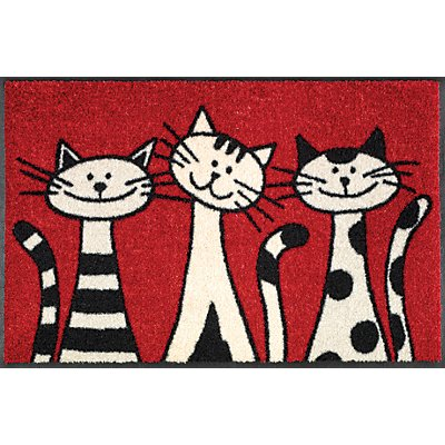 Design Fußmatte Three Cats - von wash and dry