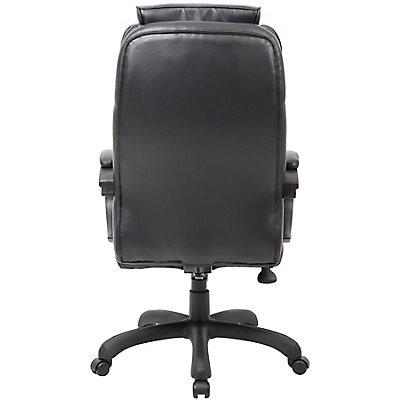 Chefsessel Toskana - mit hoher Rückenlehne und Lederbezug, schwarz