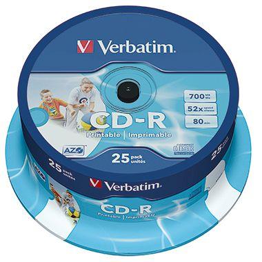Verbatim CD-R 43439 52x 700MB 80Min. Spindel 25 St./Pack.