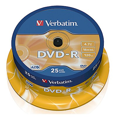 Verbatim DVD-R  16x 4,7GB 120Min. Spindel  St./Pack.