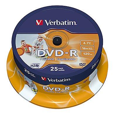 Verbatim DVD-R 43538 16x 4,7GB 120Min. Spindel 25 St./Pack.