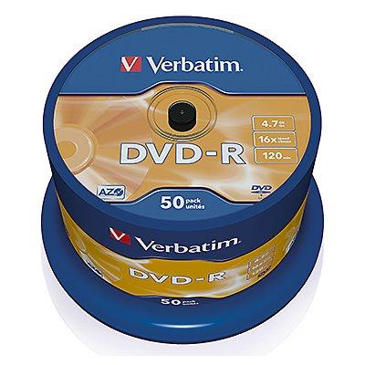 Verbatim DVD-R 43522 16x 4,7GB 120Min. Spindel 25 St./Pack.