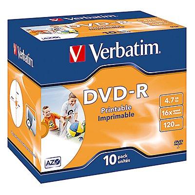 Verbatim DVD-R 43521 16x 4,7GB 120Min. Jewelcase 10 St./Pack