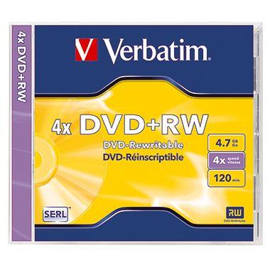 Verbatim DVD+RW 43229 4x 4,7GB 120Min. Juwelcase 5 St./Pack.