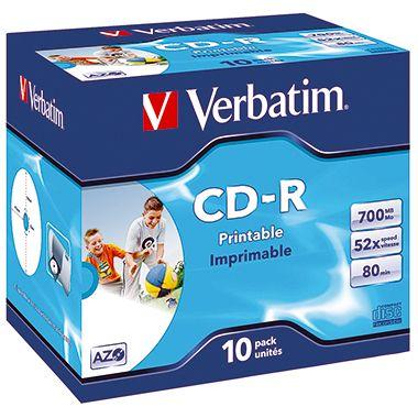 Verbatim CD-R 43325 52x 700MB 80Min. Jewelcase 10 St./Pack.