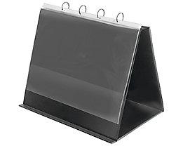 Veloflex Tischflipchart 4132280 DIN A3 quer 4Ringe 10Hüllen schwarz
