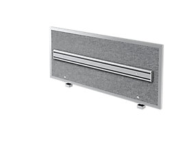 Hammerbacher Akustik-Orga-Wand | HxBxT 50 x 119,5 x 2,7/5 cm | Grau meliert