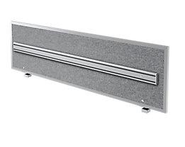 Hammerbacher Akustik-Orga-Wand | HxBxT 50 x 179,5 x 2,7/5 cm | Grau meliert