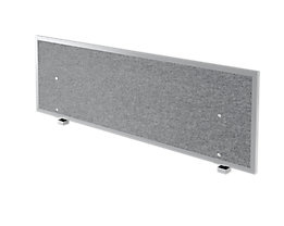 Hammerbacher Akustik-Trennwand | HxBxT 50 x 159,5 x 2,7/5 cm | Grau meliert | VATW16/5