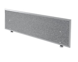 Hammerbacher Akustik-Trennwand | HxBxT 50 x 179,5 x 2,7/5 cm | Grau meliert | VATW18/5
