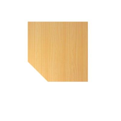 Hammerbacher Anschlussplatte | 120 x 120 cm | Buche | Fuß Weiß | VLT12/6/W