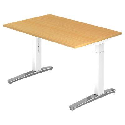 Hammerbacher Schreibtisch | höhenverstellbar | BxT 120 x 80 cm