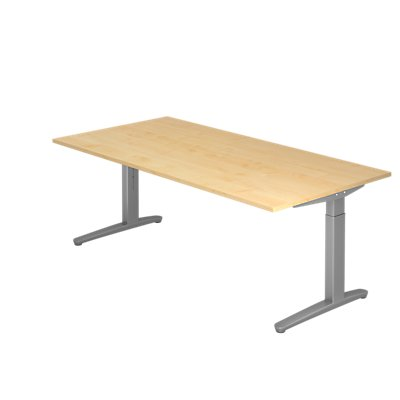 Hammerbacher Schreibtisch | höhenverstellbar | BxT 200 x 100 cm