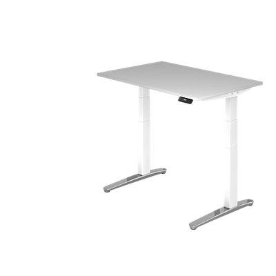 Hammerbacher Schreibtisch | Elektrisch höhenverstellbar | BxT 120 x 80 cm