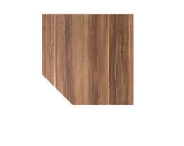 Hammerbacher Anbauplatte | Trapez | 120 x 120 cm | Zwetschge | VXBT12/Z/W